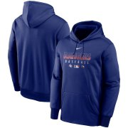 Wholesale Cheap Men's Texas Rangers Nike Royal Authentic Collection Therma Performance Pullover Hoodie