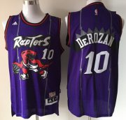 Wholesale Cheap Toronto Raptors #10 Demar DeRozan Hardwood Classic Purple Swingman Jersey