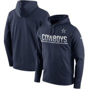 Wholesale Cheap Men's Dallas Cowboys Nike Navy Sideline Circuit Pullover Performance Hoodie