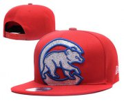 Wholesale Cheap MLB Chicago Cubs Snapback Ajustable Cap Hat YD 2