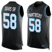 Wholesale Cheap Nike Panthers #58 Thomas Davis Sr Black Team Color Men's Stitched NFL Limited Tank Top Jersey