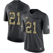 Wholesale Cheap Nike Chiefs #21 Bashaud Breeland Black Men's Stitched NFL Limited 2016 Salute To Service Jersey