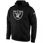 Wholesale Cheap Men's Las Vegas Raiders Nike Black KO Logo Essential Hoodie