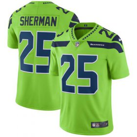 Wholesale Cheap Nike Seahawks #25 Richard Sherman Green Men\'s Stitched NFL Limited Rush Jersey
