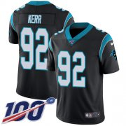 Wholesale Cheap Nike Panthers #92 Zach Kerr Black Team Color Youth Stitched NFL 100th Season Vapor Untouchable Limited Jersey
