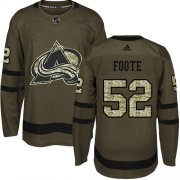 Wholesale Cheap Adidas Avalanche #52 Adam Foote Green Salute to Service Stitched NHL Jersey