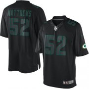 Wholesale Cheap Nike Packers #52 Clay Matthews Black Men's Stitched NFL Impact Limited Jersey