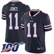 Wholesale Cheap Nike Bills #11 Zay Jones Navy Men's Stitched NFL Limited Inverted Legend 100th Season Jersey