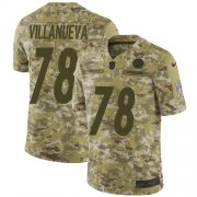 Wholesale Cheap Nike Steelers #78 Alejandro Villanueva Camo Youth Stitched NFL Limited 2018 Salute to Service Jersey