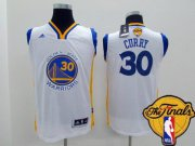 Wholesale Cheap Men's Golden State Warriors #30 Stephen Curry White 2017 The NBA Finals Patch Jersey