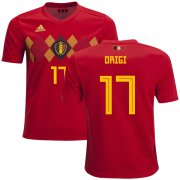 Wholesale Cheap Belgium #17 Origi Home Kid Soccer Country Jersey