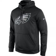 Wholesale Cheap Men's Philadelphia Eagles Nike Black Practice Performance Pullover Hoodie