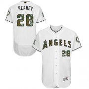 Wholesale Cheap Angels of Anaheim #28 Andrew Heaney White Flexbase Authentic Collection Memorial Day Stitched MLB Jersey