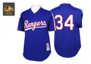 Wholesale Cheap Mitchell And Ness 1989 Rangers #34 Nolan Ryan Blue Throwback Stitched MLB Jersey