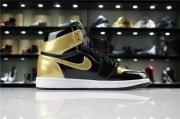 Wholesale Cheap Womens Jordan 1 Retro Gold Toe Gold/Black-White