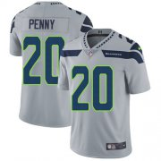 Wholesale Cheap Nike Seahawks #20 Rashaad Penny Grey Alternate Men's Stitched NFL Vapor Untouchable Limited Jersey
