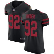 Wholesale Cheap Nike 49ers #92 Kerry Hyder Black Alternate Men's Stitched NFL New Elite Jersey