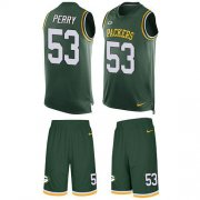 Wholesale Cheap Nike Packers #53 Nick Perry Green Team Color Men's Stitched NFL Limited Tank Top Suit Jersey