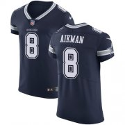 Wholesale Cheap Nike Cowboys #8 Troy Aikman Navy Blue Team Color Men's Stitched NFL Vapor Untouchable Elite Jersey