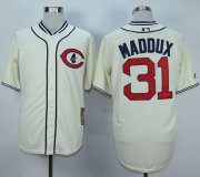 Wholesale Cheap Cubs #31 Greg Maddux Cream 1929 Turn Back The Clock Stitched MLB Jersey
