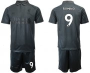 Wholesale Cheap Liverpool #9 Firmino Black Soccer Club Jersey