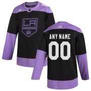 Wholesale Cheap Los Angeles Kings Adidas Hockey Fights Cancer Custom Practice Jersey Black