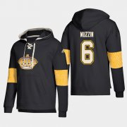Wholesale Cheap Los Angeles Kings #6 Jake Muzzin Black adidas Lace-Up Pullover Hoodie