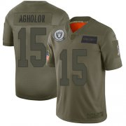 Wholesale Cheap Nike Raiders #15 Nelson Agholor Camo Youth Stitched NFL Limited 2019 Salute To Service Jersey