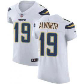 Wholesale Cheap Nike Chargers #19 Lance Alworth White Men\'s Stitched NFL Vapor Untouchable Elite Jersey