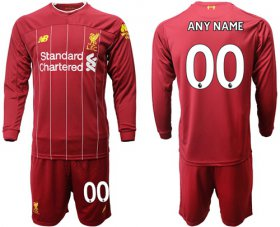 Wholesale Cheap Liverpool Personalized Home Long Sleeves Soccer Club Jersey