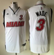 Wholesale Cheap Men's Miami Heat #3 Dwyane Wade Revolution 30 Swingman 2015-16 Retro White Jersey