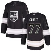 Wholesale Cheap Adidas Kings #77 Jeff Carter Black Home Authentic Drift Fashion Stitched NHL Jersey
