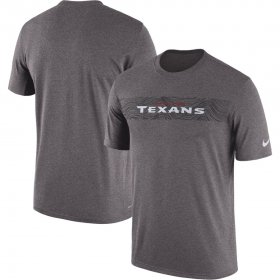 Wholesale Cheap Houston Texans Nike Sideline Seismic Legend Performance T-Shirt Charcoal
