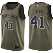 Wholesale Cheap Nike Spurs #41 Trey Lyles Green NBA Swingman Salute to Service Jersey