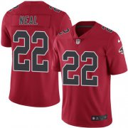 Wholesale Cheap Nike Falcons #22 Keanu Neal Red Men's Stitched NFL Limited Rush Jersey