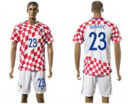 Wholesale Cheap Croatia #23 Subasic Home Soccer Country Jersey