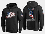 Wholesale Cheap Ducks #4 Cam Fowler NHL Banner Wave Usa Flag Black Hoodie