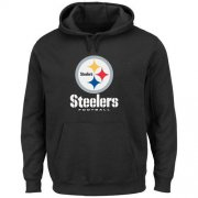 Wholesale Cheap Men's Pittsburgh Steelers Black Critical Victory Pullover Hoodie