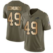 Wholesale Cheap Nike Bills #49 Tremaine Edmunds Olive/Gold Men's Stitched NFL Limited 2017 Salute To Service Jersey