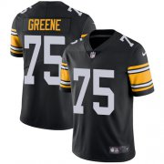 Wholesale Cheap Nike Steelers #75 Joe Greene Black Alternate Men's Stitched NFL Vapor Untouchable Limited Jersey