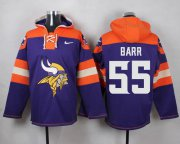 Wholesale Cheap Nike Vikings #55 Anthony Barr Purple Player Pullover NFL Hoodie