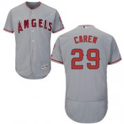 Wholesale Cheap Angels of Anaheim #29 Rod Carew Grey Flexbase Authentic Collection Stitched MLB Jersey