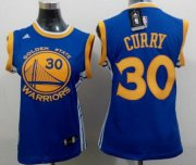 Wholesale Cheap Golden State Warriors #30 Stephen Curry 2014 New Blue Womens Jersey