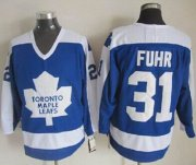 Wholesale Cheap Maple Leafs #31 Grant Fuhr Blue/White CCM Throwback Stitched NHL Jersey