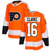 Wholesale Cheap Adidas Flyers #16 Bobby Clarke Orange Home Authentic Stitched NHL Jersey