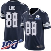 Wholesale Cheap Nike Cowboys #88 CeeDee Lamb Navy Blue Team Color Men's Stitched With Established In 1960 Patch NFL 100th Season Vapor Untouchable Limited Jersey