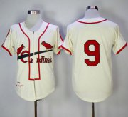 Wholesale Cheap Mitchell And Ness 1946 Cardinals #9 Enos Slaughter Cream Throwback Stitched MLB Jersey