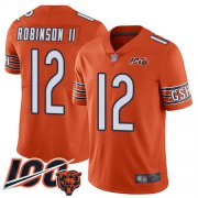 Wholesale Cheap Nike Bears #12 Allen Robinson II Orange Men's Stitched NFL Limited Rush 100th Season Jersey