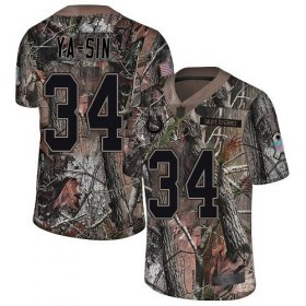 Wholesale Cheap Nike Colts #34 Rock Ya-Sin Camo Men\'s Stitched NFL Limited Rush Realtree Jersey