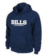 Wholesale Cheap Buffalo Bills Authentic Font Pullover Hoodie Dark Blue